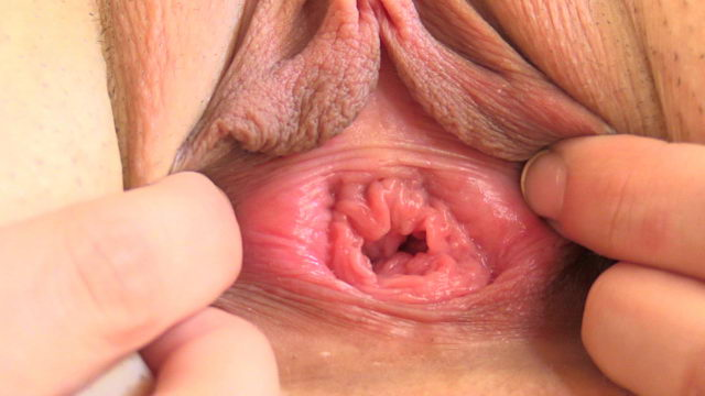 Young Girl Playing with her Pussy Close-up (Long Labia)