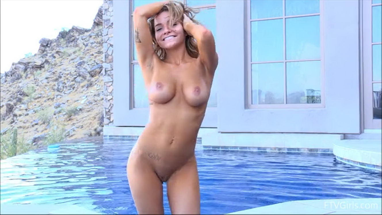 Charlotte Dancing in the Swimming Pool