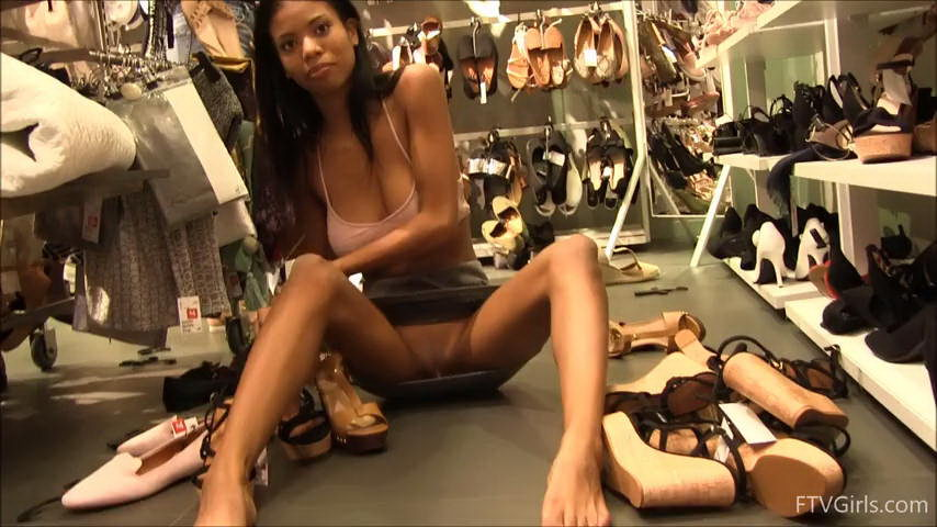 FTV Girls Nia Flashing at Shopping Mall