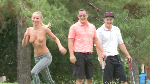 Staci Having Fun Naked on the Golf Course