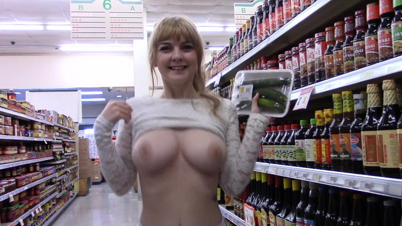FTV Girls Alyssa Flashing Boobs in Supermarket