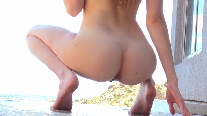 Young Naked Girl Peeing Outdoors