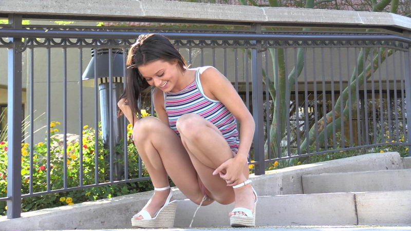 Beautiful FTV Girls Lana Peeing Outdoors