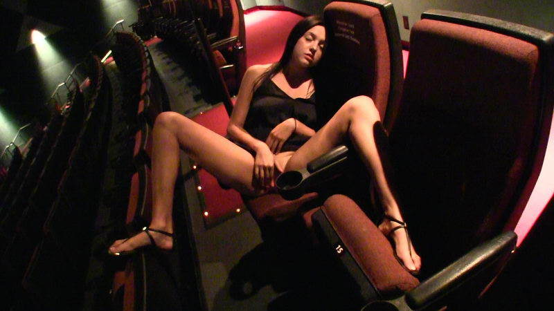 Young Girl Masturbating in the Cinema Theatre