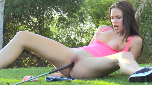 naked girls on golf courses