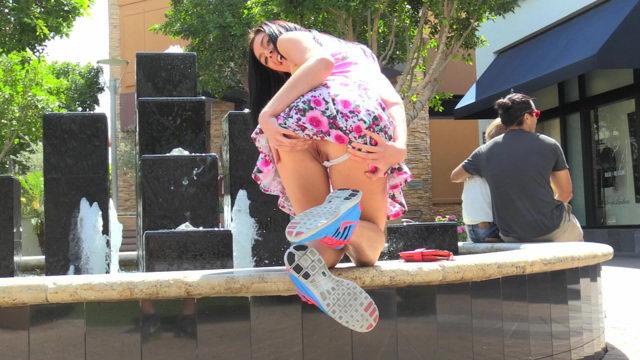 FTV Girl Marley Flashing Pussy on Public