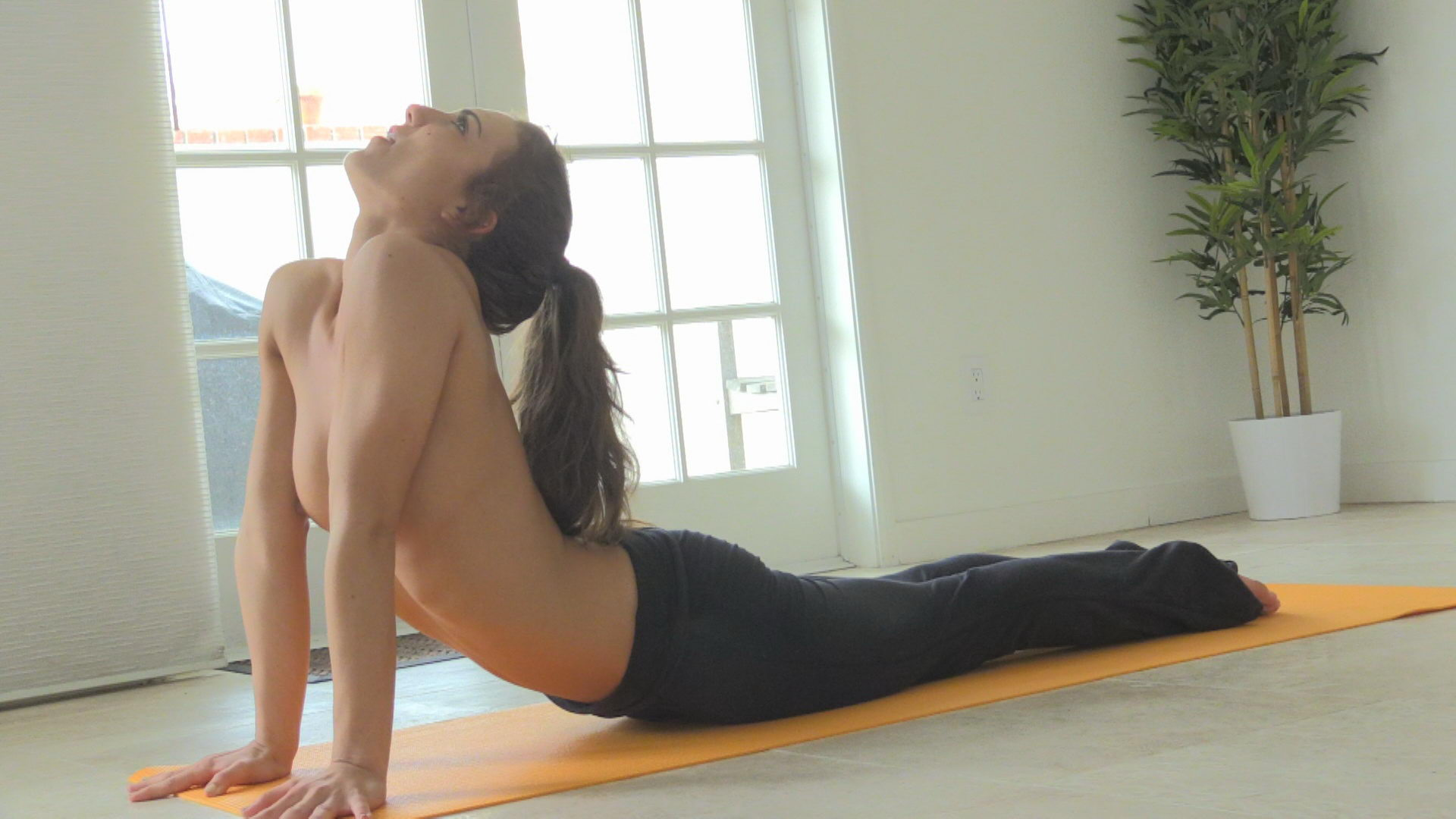 Yoga with Young Naked Girl